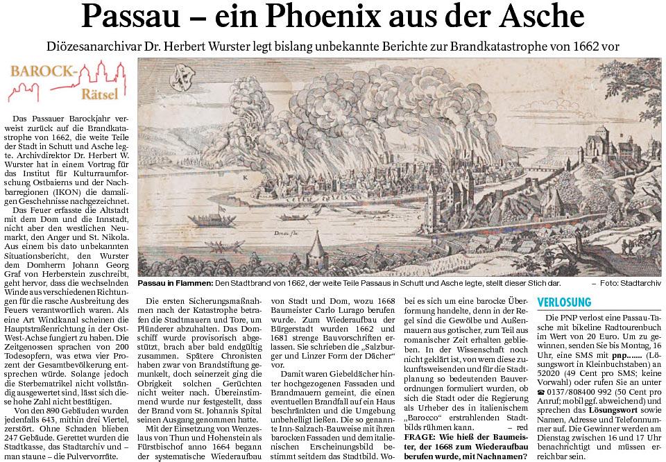 Passau – ein Phoenix aus der Asche