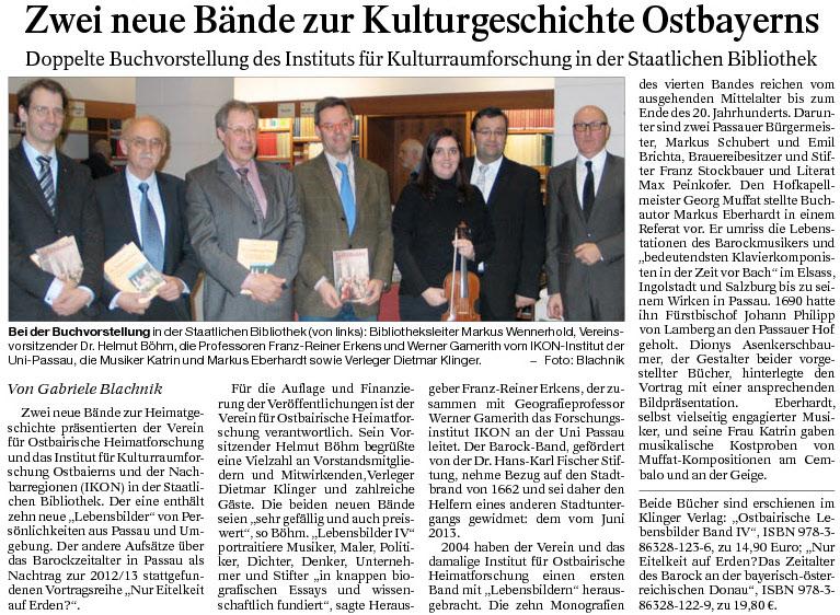 Zwei neue Bände zur Kulturgeschichte Ostbayerns