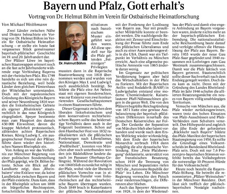 Bayern und Pfalz, Gott erhalt's