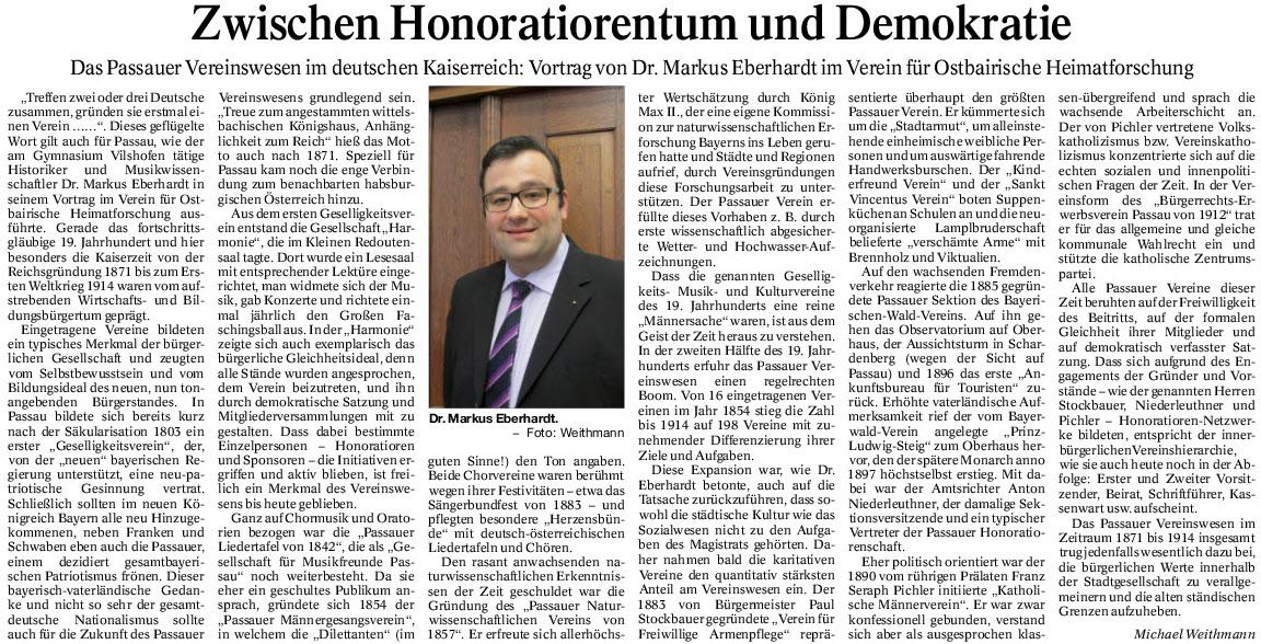 Zwischen Honoratiorentum und Demokratie